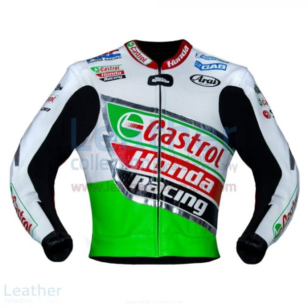 COLIN EDWARDS CASTROL 2002 WSBK MOTORCYCLE LEATHER HONDA JACKET