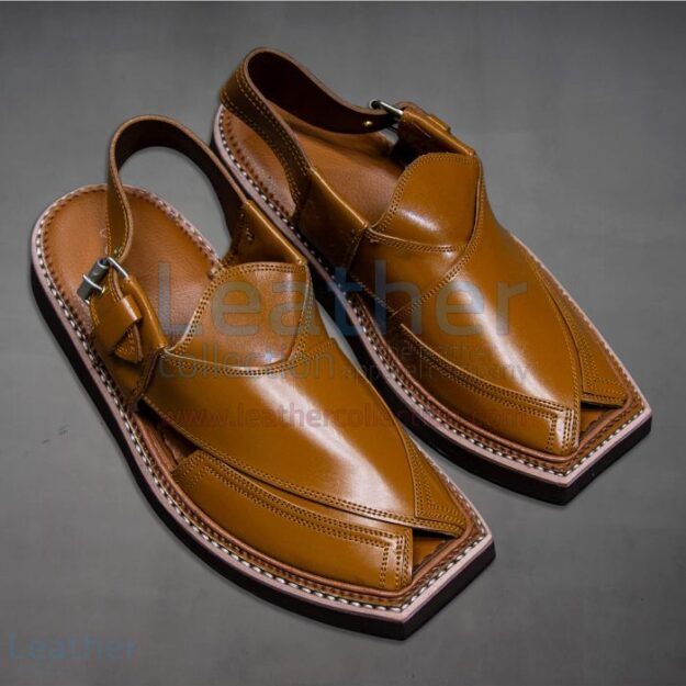 LEATHER KAPTAAN CHAPPAL TAN